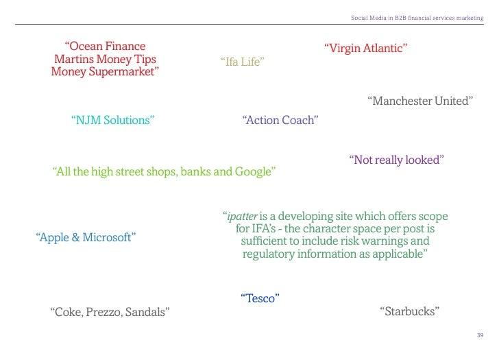 """SocialMediainB2Bfinancialservicesmarketing       """"Ocean Finance                                         """"Virgin Atla..."""