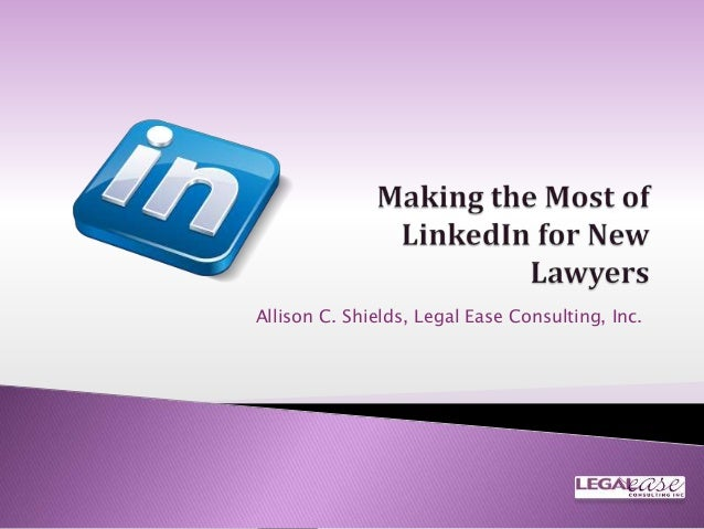 Allison C. Shields, Legal Ease Consulting, Inc.