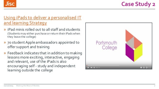 Case Study 2 Using iPads to deliver a personalised IT and learning Strategy » iPad minis rolled out to all staff and stude...