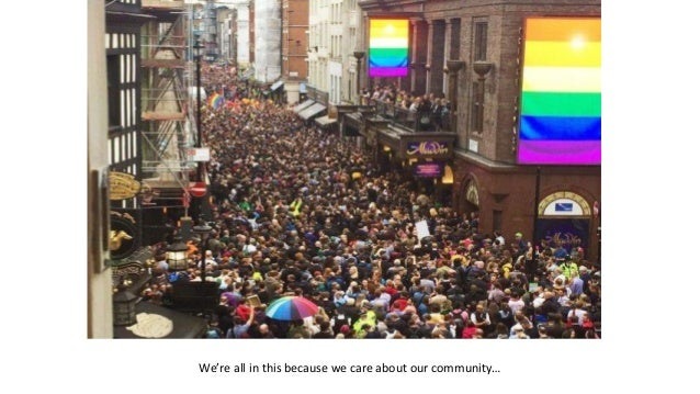 We're all in this because we care about our community…