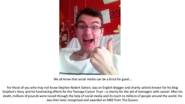 We all know that social media can be a force for good… For those of you who may not know Stephen Robert Sutton, was an Eng...