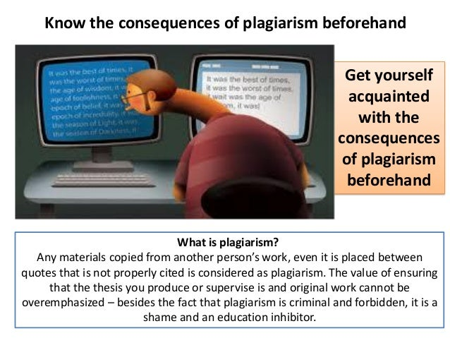 the effects of plagiarism how to detect its presence and how to avoid it 11062013 learn how to check any document for plagiarism  the online plagiarism checker will get to work right away and its  how to avoid plagiarism.