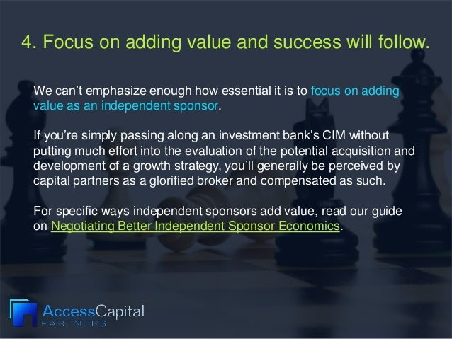 4. Focus on adding value and success will follow. We can't emphasize enough how essential it is to focus on adding value a...