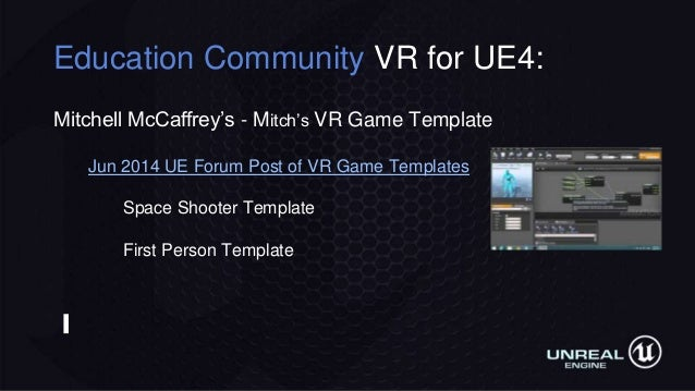 Making VR games and experiences in Unreal Engine
