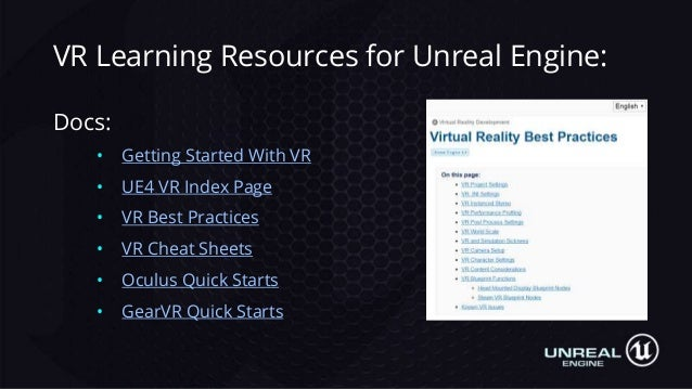 Making VR Games and Experiences in UE4