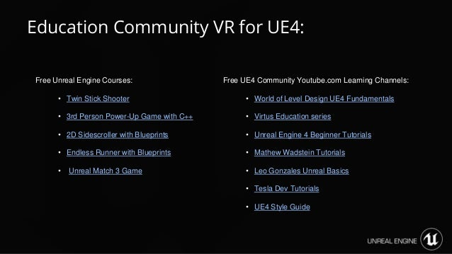 Making vr with unreal engine luis cataldi education community vr for ue4 62 free unreal engine malvernweather Gallery
