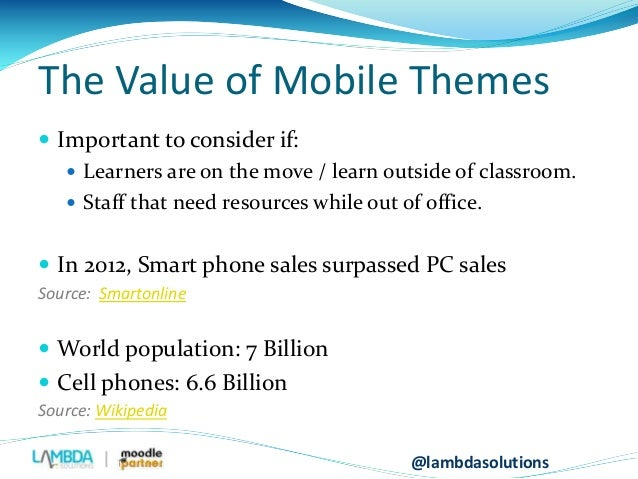 Making your Moodle Mobile