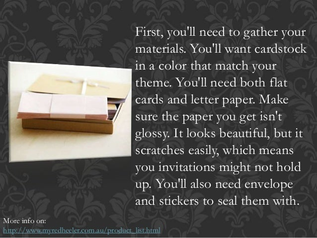 How Do You Make Your Own Wedding Invitations: Making Your Own Wedding Invitations