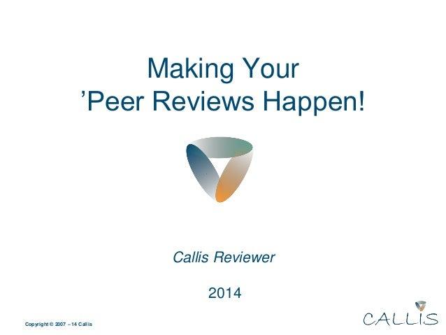 Making your peer reviews happen af peter voldby petersen callis ccuart Images