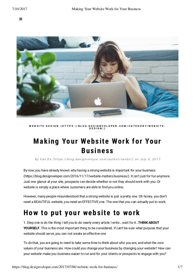 Making your website work for your business
