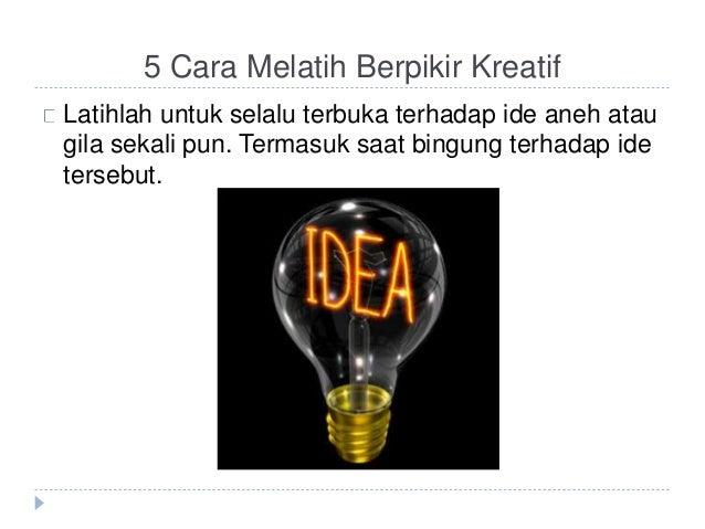 berpikir kreatif adalah pdf