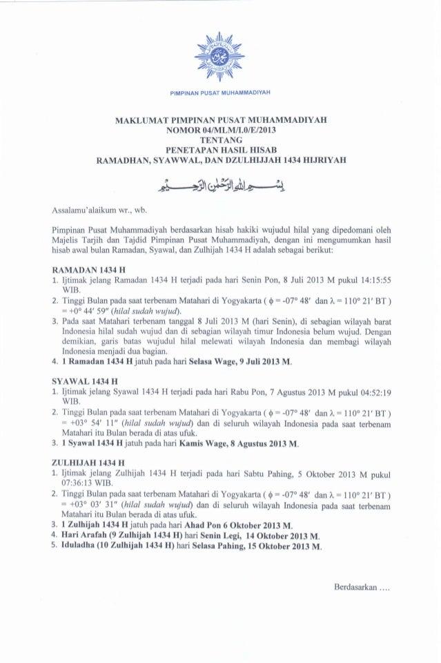 Maklumat ramadhan 1434 h 2013 m