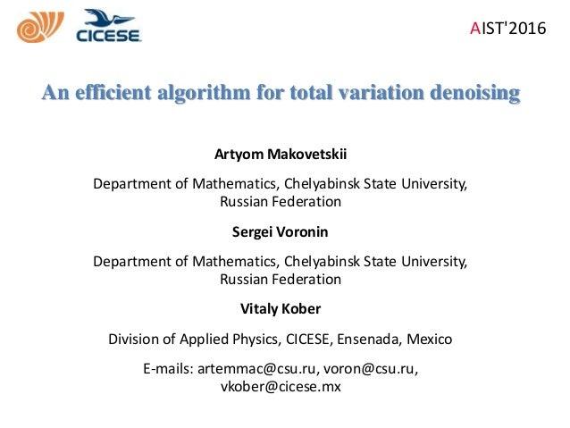 Artyom Makovetskii Department of Mathematics, Chelyabinsk State University, Russian Federation Sergei Voronin Department o...