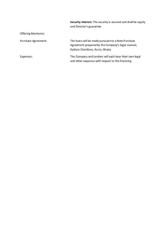 Mak term sheet Slide 2
