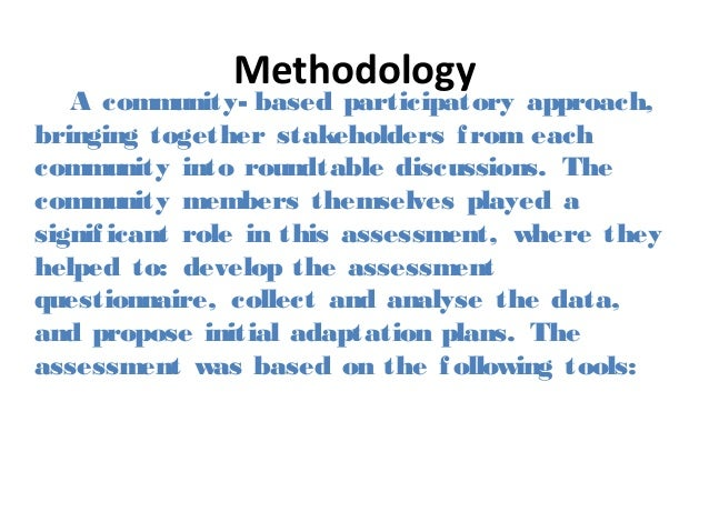how to analyze project based on climate change adaptation