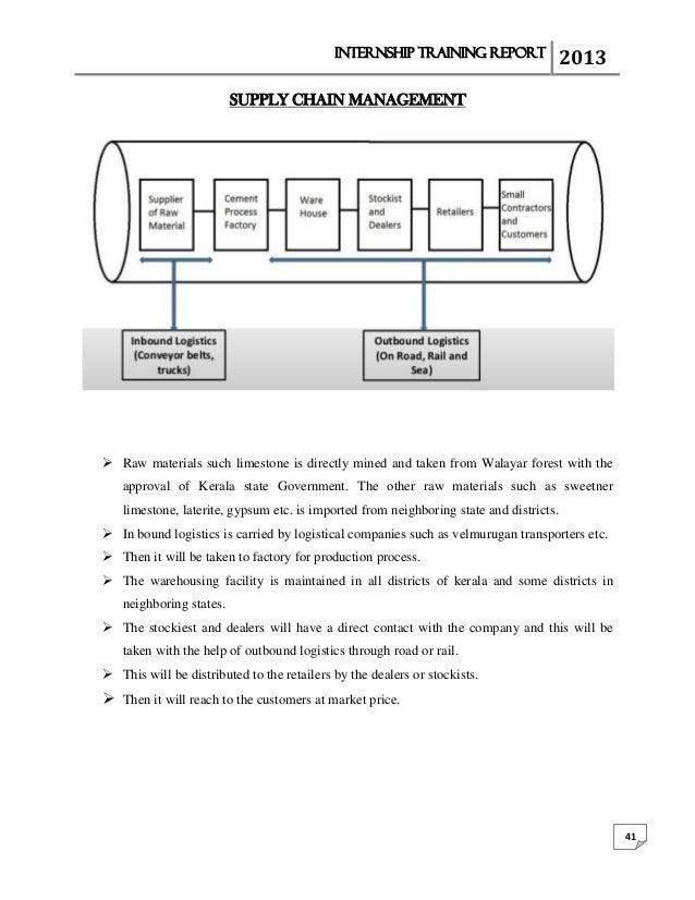 Malabar cements internship report