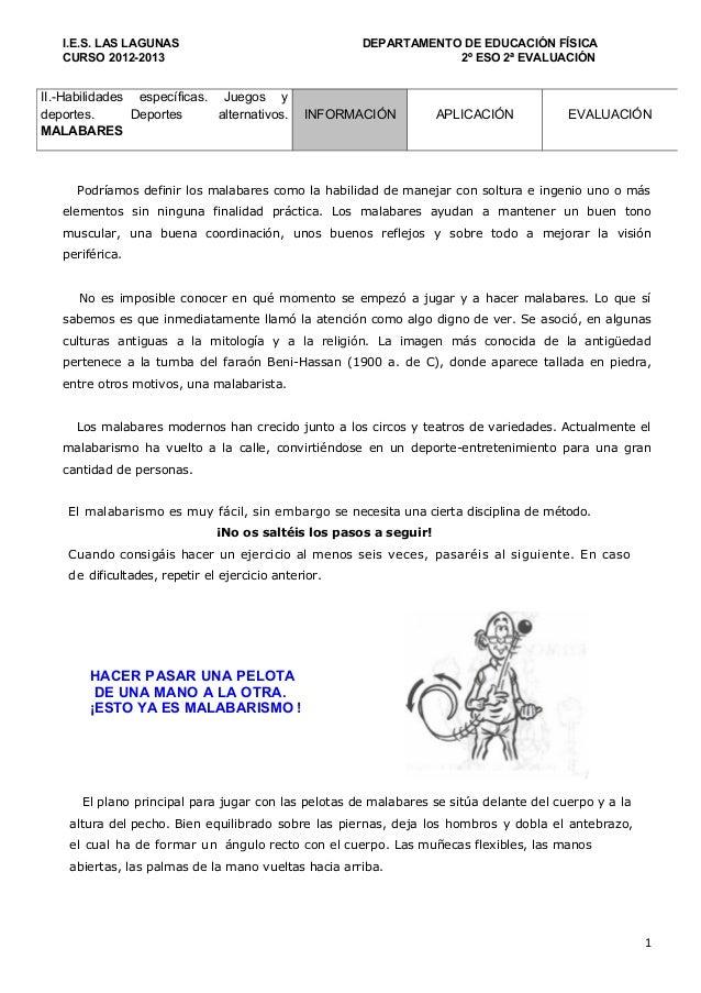 I.E.S. LAS LAGUNAS                                 DEPARTAMENTO DE EDUCACIÓN FÍSICA   CURSO 2012-2013                     ...