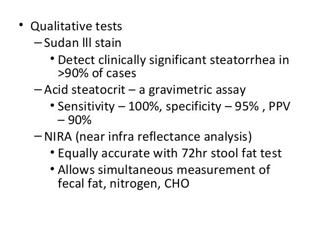 Sudan Stain Stool Test Malabsorption Syndrome Ppt Chronic
