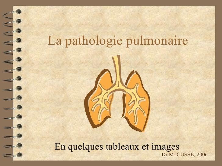 La pathologie pulmonaire En quelques tableaux et images Dr M. CUSSE, 2006
