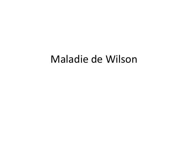 Maladie de Wilson