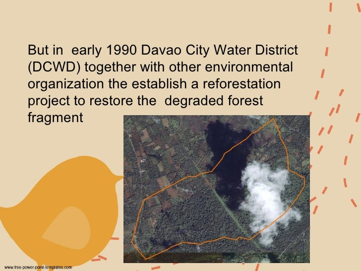 But in  early 1990 Davao City Water District (DCWD) together with other environmental organization the establish a refores...