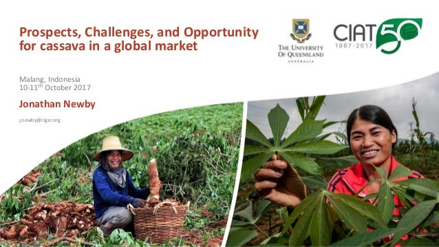 Prospects, Challenges, and Opportunity for cassava in a global market Jonathan Newby j.newby@cigar.org Malang, Indonesia 1...