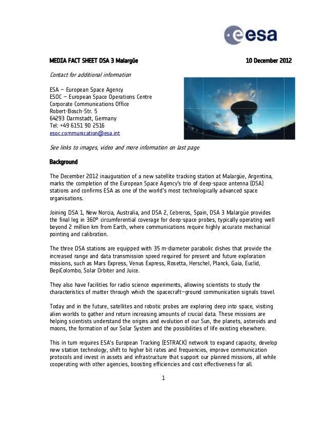 MEDIA FACT SHEET DSA 3 Ma               T        alargüe                                                   10 December 20 ...