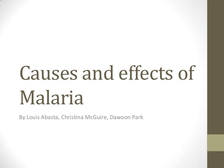 Causes and effects of Malaria<br />By Louis Abasta, Christina McGuire, Dawoon Park <br />