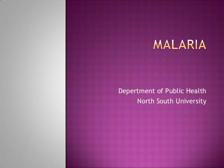 Depertment of Public Health     North South University