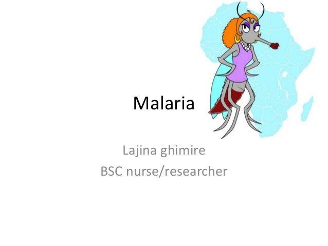 Malaria  Lajina ghimire  BSC nurse/researcher