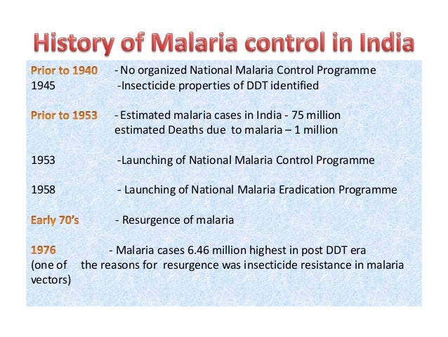 An analysis of malaria and ddt