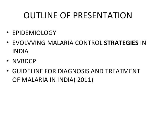 Malaria control strategies in india Slide 2