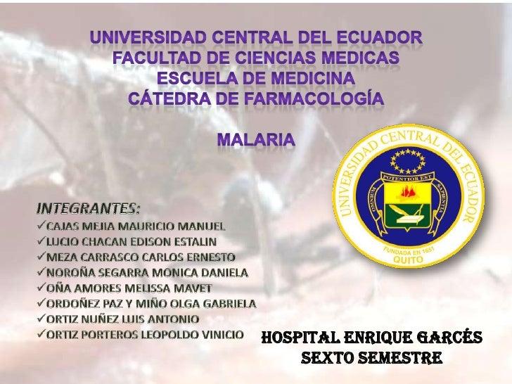 Malaria exposición