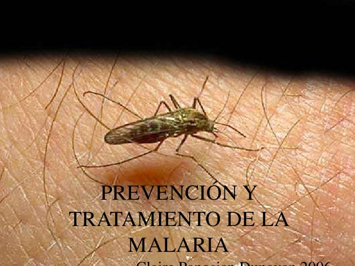 PREVENCIÓN Y TRATAMIENTO DE LA     MALARIA