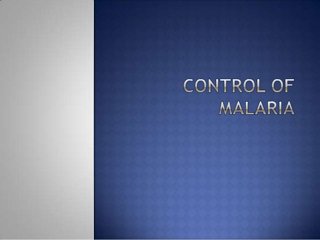 1. Management of malaria cases in the community. 2. Active intervention to control/interrupt malaria transmission with com...