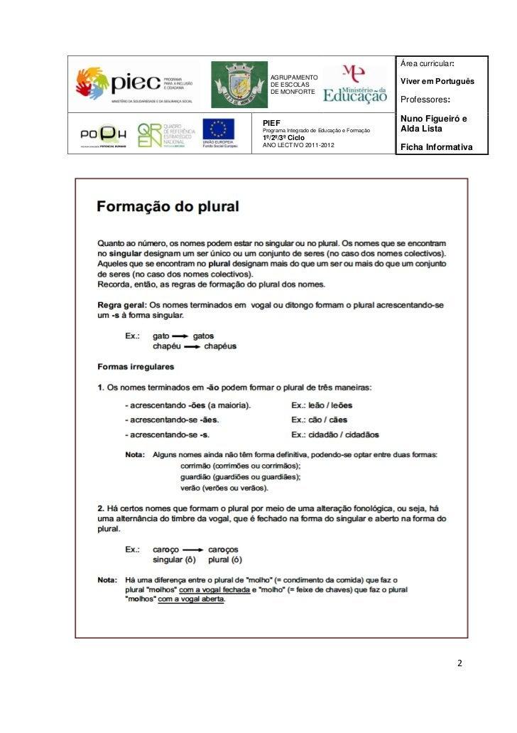 Área curricular:  AGRUPAMENTO  DE ESCOLAS                                Viver em Português  DE MONFORTE                  ...