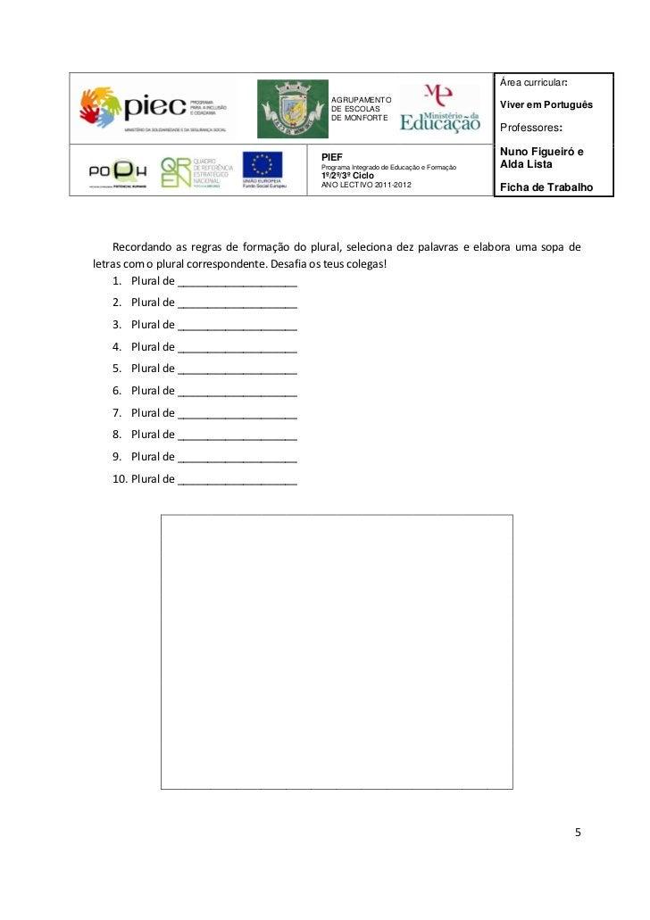 Área curricular:                                              AGRUPAMENTO                                              DE ...