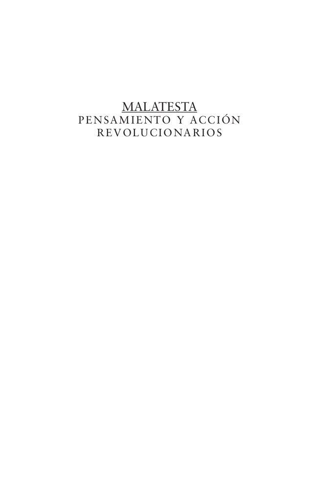 MALATESTAPENSAMIENTO Y ACCIÓNREVOLUCIONARIOS
