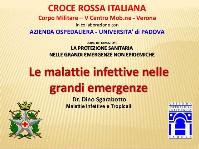 CORSO DI FORMAZIONE LA PROTEZIONE SANITARIA NELLE GRANDI EMERGENZE NON EPIDEMICHE CROCE ROSSA ITALIANA Corpo Militare – V ...