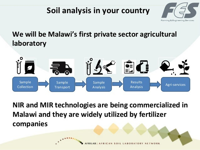 Soil analysis in your country We will be Malawi's first private sector agricultural laboratory NIR and MIR technologies ar...
