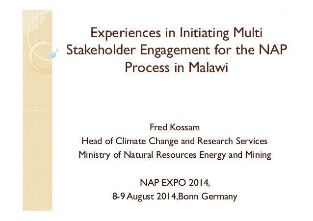 Fred Kossam, Ministry of Natural Resources, Energy and Mining, Malawi: Experiences in initiating multi-stakeholder engagem...