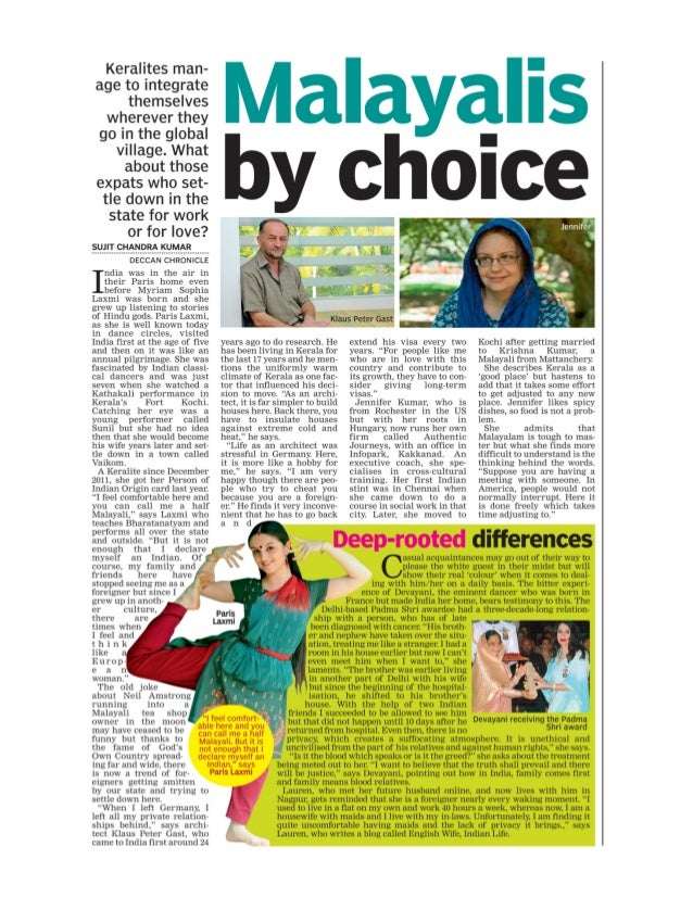 Malayalis By Choice - Foreigners Living in India