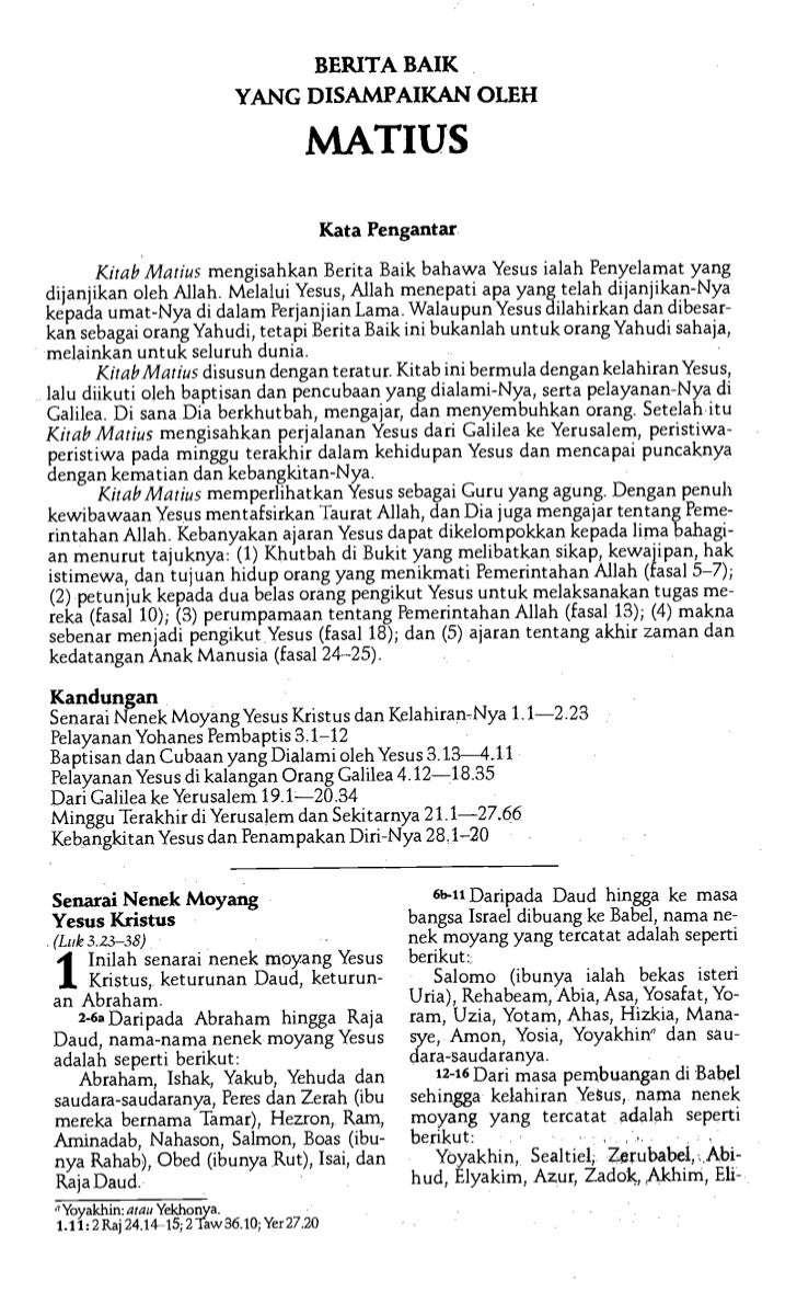 Malay bible   new testament