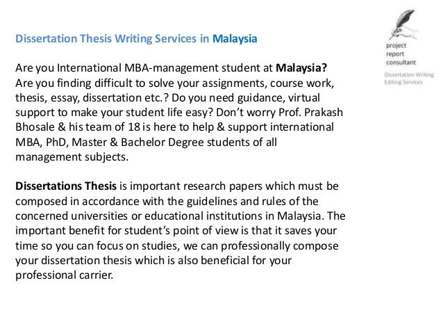 Online dissertation help in malaysia