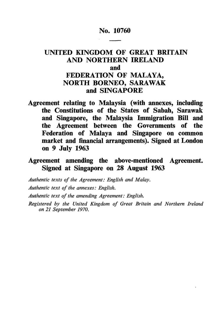 No. 10760      UNITED KINGDOM OF GREAT BRITAIN           AND NORTHERN IRELAND                      and           FEDERATIO...
