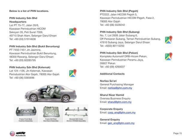 Below is a list of PHN locations. PHN Industry Sdn Bhd Headquarters Lot PT 75-77, Jalan 26/6, Kawasan Perindustrian HICOM ...