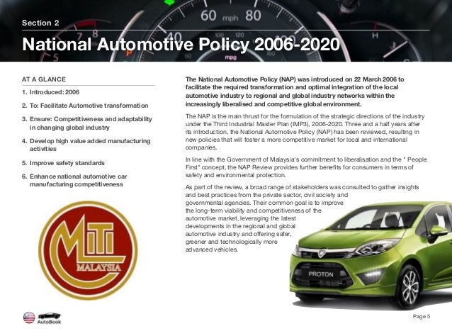 The National Automotive Policy (NAP) was introduced on 22 March 2006 to facilitate the required transformation and optimal...