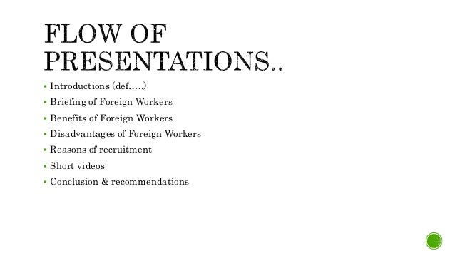 disadvantages of employing foreign workers
