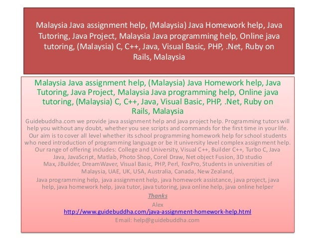 Assignment Helper & Thesis Writing Service Malaysia