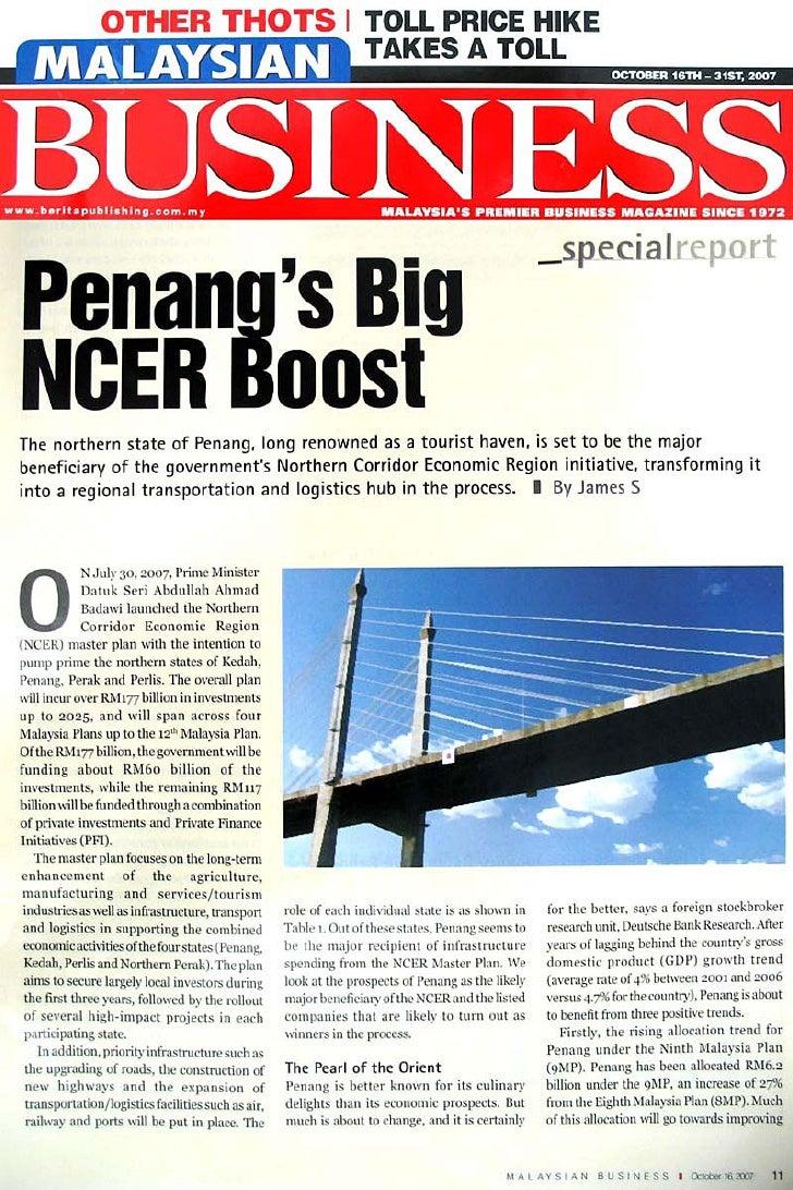 Malaysian Business: Penang NCER Oct 2007
